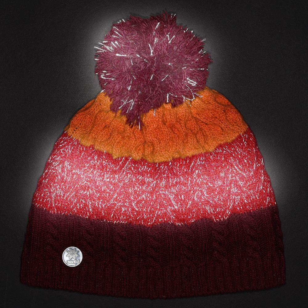 4bf8fe7c0 Morild Rån lue med refleks; burgunder, rød, orange